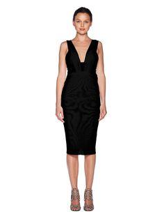 Athena Deep V Dress - Dress