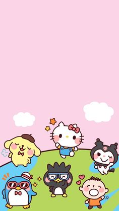 ( ´ ∀ `)ノ~ ♡ Hello Kitty Wallpaper, Sanrio Wallpaper, Kawaii Wallpaper, Love Wallpaper, Cartoon Wall, Cute Cartoon, Cute Characters, Sanrio Characters, Cellphone Wallpaper