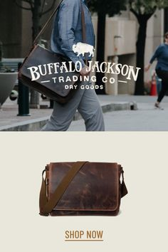 Men's vintage full-grain brown leather satchel messenger bag. Handcrafted to handle whatever - work, travel, or adventure. This just-right, not-too-bulky size will fit up to 15-inch laptops. Adjustable canvas shoulder strap for wearing cross body and casual. You want fashion? Louis Vuitton, Michael Kors, & Hermes (or Coach or Gucci or Prada…), ain't got nothin on us. Rugged craftsmanship for the win. Great gift for him. Waxed Canvas Bag, Canvas Messenger Bag, Messenger Bag Men, Rugged Fashion, Men's Fashion, Brown Leather Satchel, Men's Leather, Briefcase For Men, Leather Briefcase
