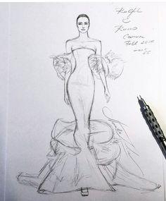 Unfinished Source by dndreca drawing Dress Design Drawing, Dress Design Sketches, Fashion Design Sketchbook, Dress Drawing, Fashion Design Drawings, Fashion Sketches, Art Sketchbook, Fashion Figure Drawing, Fashion Model Drawing