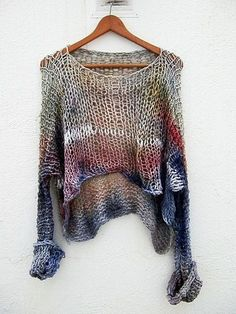 Mohair Pleated Sweater in Anti