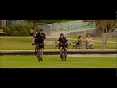 The fourth rule is to keep the action new. There are a lot of action scenes in the movie, but this is the first scene of action. They are chasing down bikers in the park because they were carrying drugs.