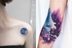 20 Hermosos tatuajes para todos los amantes del espacio