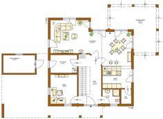 Kundenhaus santorin grundriss obergeschoss h user for Hausformen einfamilienhaus