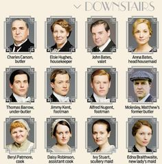 Who's Who: Downton Abbey Season 4. Click for more!