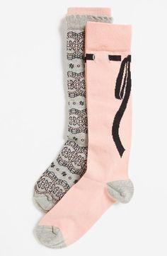 Nordstrom 'Lace & Bows' Knee Socks http://rstyle.me/n/dvrevr9te