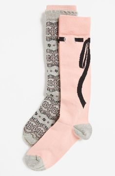 Nordstrom 'Lace & Bows' Knee Socks http://rstyle.me/n/dvrevr9te