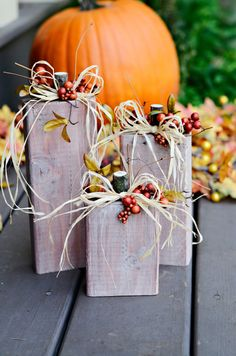 Fall Wood Pumpkins on Etsy, $15.00