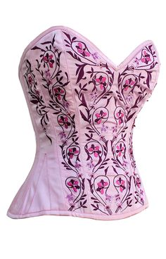 The Violet Vixen - Lady of Roses Pink-Red Corset, $158.64 (http://thevioletvixen.com/corsets/lady-of-roses-pink-red-corset/)