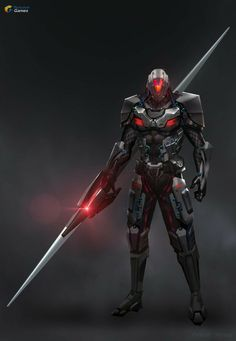 Robot Concept Art, Armor Concept, Weapon Concept Art, Fantasy Character Design, Character Concept, Character Art, Futuristic Armour, Futuristic Art, Futuristic Technology