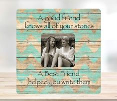 Best Friend Gift Picture Frame Best Friends by LightWoodsDesigns