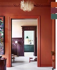 Gallery with inspirational pictures of Traditional Paint lacquer. Perfect for doors, window frames and walls. Interior Design Inspiration, Home Interior Design, Color Inspiration, Interior And Exterior, Studio Interior, Furniture Inspiration, Colour Architecture, Interior Architecture, Wall Colors