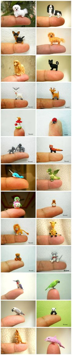ADORABLE Mini Crochet Animals #CrochetAnimals