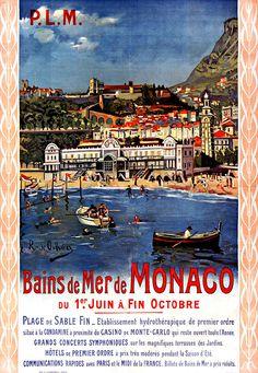 PLM - Bains de mer à Monaco