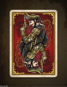 Steampunk Pirates Black Flag Edition 500 Limited Playing Cards | eBay