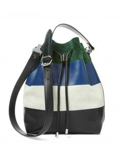 Proenza Schouler Color-Block Bucket Bag - Shop chic ways to try the normcore trend: http://shop.harpersbazaar.com/trends/normcore/