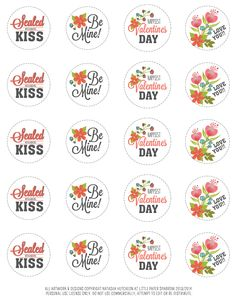 68 Best Valentine S Day Labels Templates And Printables Images On