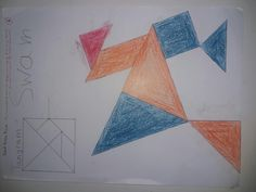 Tangram - Swam Colours,pencil and rubber 2017/2018