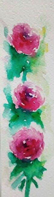 punto de libro, flores, rosas. Elsa Nutz