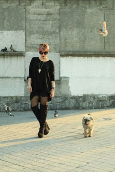 Street Style Black Outfit - Mexican Fashion Blog Nancy Nannuck 2014 #streetstyle #mexicanfashionblog