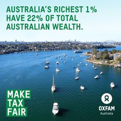 Did you know? The two richest billionaires in Australia own more wealth than the poorest 20% of all Australians. #MakeTaxFair #EvenItUp