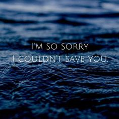 If only love could have saved you...