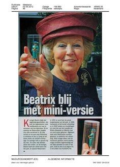 The queen liked her gift made by in't klein!