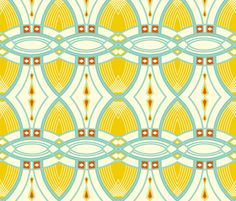1920's Paris fabric by fable_design on Spoonflower - custom fabric