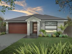 Like the cream color with dark gray trim and wood door.  Garage door will need to be painted dark gray to match the trim as the wood siding will be applied to our home.