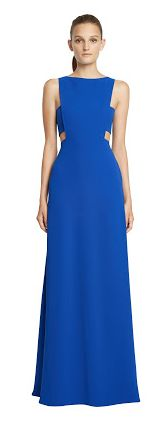 Jill jill stuart new arrivals ss17 now available for Prom, maid of honour, wedding season, grad,engagement, shower ... bleu cut out open sides gown robe longue robes