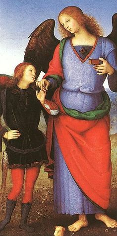 Pietro Perugino - Tobias with the Angel Raphael - WGA17352 - Архангел Рафаил — Википедия