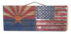 American Rustic Flag Arizona State Flag Wood Pallet Sign