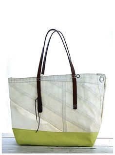 Tote bags from reclaimed sailboat sails by Susan Hoff!