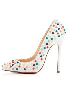 Charming Girl Pumps with Colorful Rivets [XHM0069] - PersunMall.com