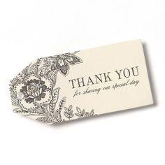 HBH™ Vintage Floral Favor Cards, Ivory/Black
