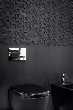 This amazing photo is surely an inspirational and terrific idea Wc Decoration, Wall Tiles Design, Black Interior Design, Bathroom Design Luxury, Dark Interiors, Home Room Design, Bathroom Flooring, Bathroom Inspiration, Bathroom Ideas