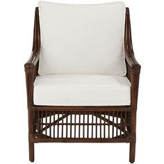 Panama Jack Bora Bora Cushioned Rattan Lounge Chair (23.485 RUB) ❤ liked on Polyvore featuring home, furniture, chairs and accent chairs