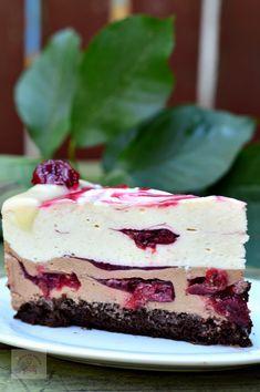 Tort cu mousse de ciocolata si visine - CAIETUL CU RETETE Sweet Recipes, Cake Recipes, Dessert Recipes, Pavlova, Sweet Tarts, Pastry Cake, Healthy Sweets, Food Cravings, Dessert Bars