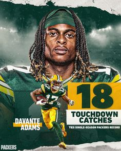 With 1️⃣8️⃣ TD receptions, Davante Adams tied Sterling Sharpe's single-season #Packers record from 1994. #GoPackGo Catcher, Go Pack Go, Green Bay Packers, Seasons, Receptions, Profile, Instagram, User Profile, Seasons Of The Year