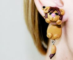 fake gauge plug two part Lion Earrings von JEWELRYandPLEASURE, $16.00