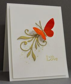 CAS butterfly with love card by Loll Thompson