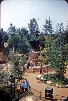 Frontierland Indian Village at Disneyland, August 1958