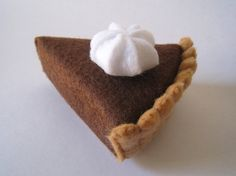 Felt Food Chocolate pie eco friendly childrens pretend play food for toy kitchen. $8.00, via Etsy.