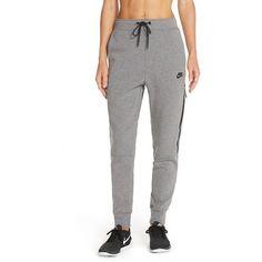 Nike Fleece Sweatpants ($90) ❤ liked on Polyvore featuring activewear, activewear pants, lightweight sweatpants, lightweight sweat pants, nike, nike activewear pants and nike sweatpants