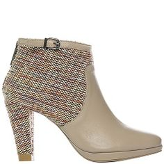 Ankle Boot City Half Knitted