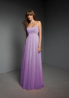 Pastel OR Grey-Like OR Purple Ombre Bridesmaids -- Style 268 in orchid