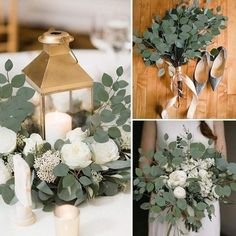 Green Wedding Decorations, Diy Wedding Flowers, Wedding Table Centerpieces, Floral Wedding, Wedding Colors, Wedding Bouquets, Wedding Greenery, Diy Wedding Flower Arrangements, Artificial Wedding Flowers