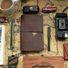旅人日记Traveler's Notebook 牛皮记事本