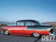 Check out news, photos and latest news on all Chevrolet cars, trucks and SUVs at Super Chevy 1955 Chevy Bel Air, 1955 Chevrolet, Chevrolet Bel Air, Custom Classic Cars, Custom Cars, Chevy Nomad, Chevy Muscle Cars, Chevy Impala, Drag Cars