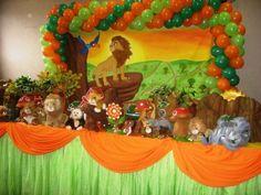Fiesta para niño con tema de la guarida del león (14) - Tutus para Fiestas Mexico - Disfrases personalizados y moños